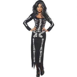 Ladies Skeleton Tube Dress Costume