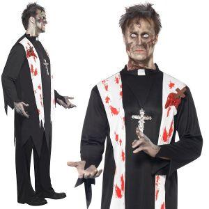 Mens Zombie Priest Costume