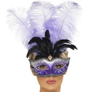 Masquerade Ball Colombina Mask - Purple