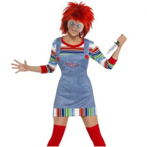 Officially Licensed Chucky Lady Fancy Dress Halloween Costume