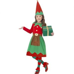 Christmas Fancy Dress - Girls Santa's Little Helper Elf Costume