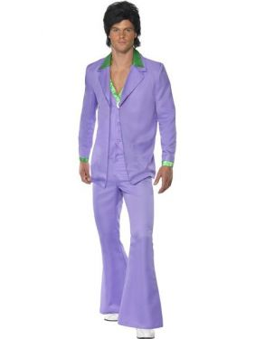 70s Fancy Dress - Lavender Suit Costume