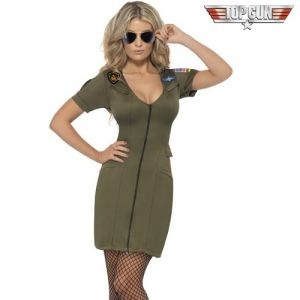 1980s Sexy Top Gun Dress Fancy Dress Costume