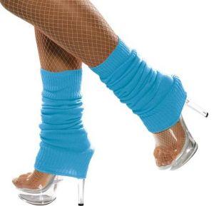 80s Leg Warmers - Blue