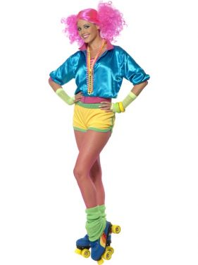 1980s Fancy Dress Skater Girl Costume