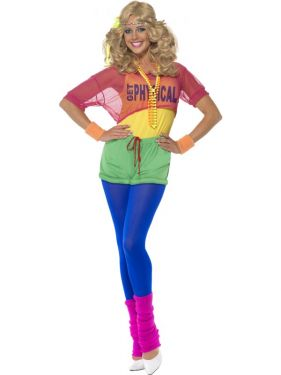 1980s Let's Get Physical Costume - xs, s, m