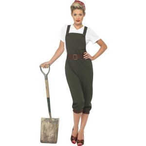 Army Fancy Dress WW2 40s Land Girl Costume