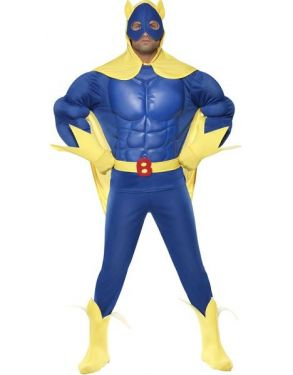 1980s EVA Chest Bananaman Fancy Dress Costume