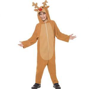 Childrens Rudolf Reindeer Onesie Fancy Dress Costume