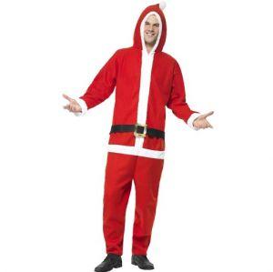 Mens Santa Onesie Costume