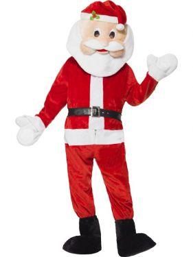 Adult Deluxe Santa Claus Mascot Costume