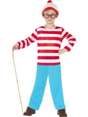 Childrens Wheres Wally Fancy Dress Costume