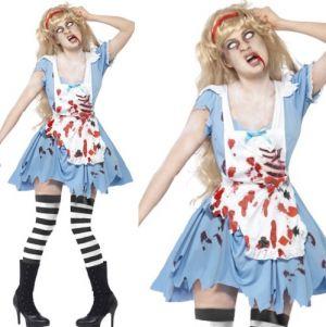 Ladies Halloween Zombie Malice Costume