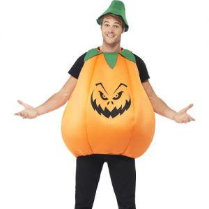 Adult Halloween Padded Pumpkin Costume