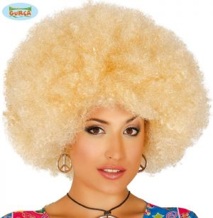 Large Blonde Afro Wig