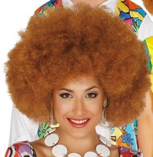 Large Brown Afro Wig