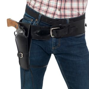 Cowboy Faux Leather Holster with Belt