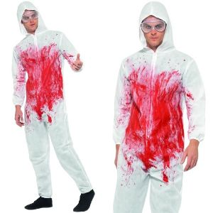 Halloween Bloody Forensic Overalls Costume