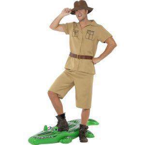 Mens 80s Safari Man Crocodile Hunter Costume