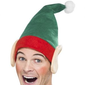Christmas Fancy Dress Santa's Helper Elf Hat with Ears