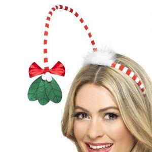 Christmas Mistletoe Kisses Headband