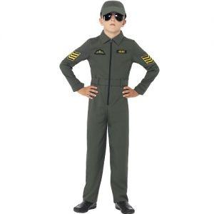 Childrens Boys Aviator Fighter Pilot CostumeL