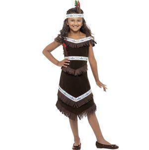 Girls Wild West Indian Costume