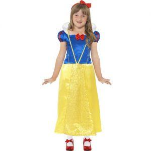Girls Snow Princess Fancy Dress Costume - S & M