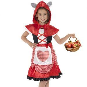 Girls Miss Red Hood Fancy Dress Costume