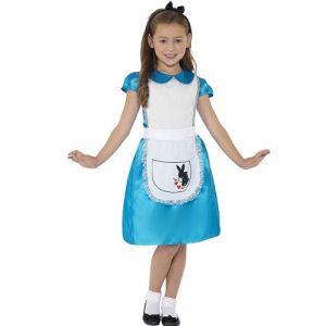 Girls Miss Wonderland Alice Fancy Dress Costume
