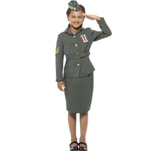 Childrens Girls Army Officer Costume