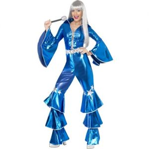 1970s Blue Dancing Dream Fancy Dress Costume