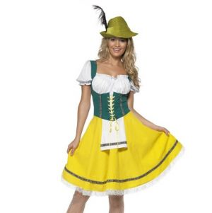 Ladies Oktoberfest Maid Fancy Dress Costume
