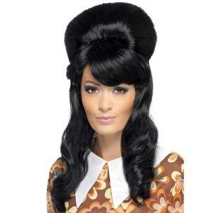 60s Black Brigitte Bouffant Wig