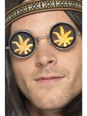 60s 70s Fancy Dress Hippy Weed Glasses