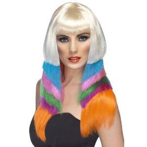 80s Fancy Dress Neon Starlet Wig