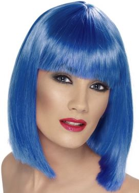 Blue Glam Wig