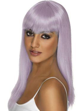 80's Glamourama Wig with Fringe - Lilac