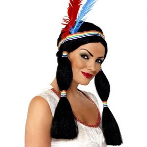 Ladies Indian Princess Fancy Dress Wig