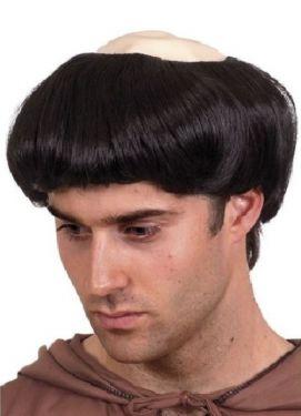Mens Monk Fancy Dress Wig