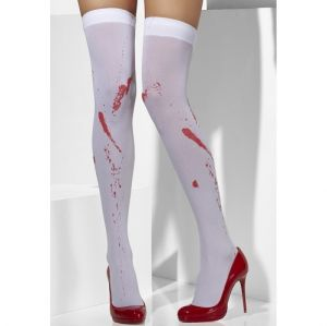 Opaque Blood Stained Hold up Stockings