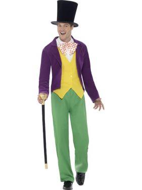 Mens Roald Dahl Willy Wonka Costume