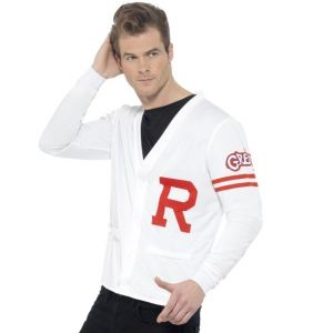 Mens Officially Licensed Grease 50s Rydell Prep Top