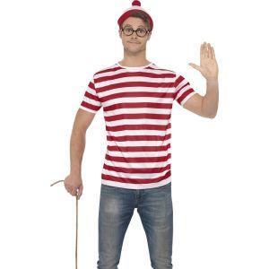 Mens Wheres Wally Top, Hat & Glasses Kit