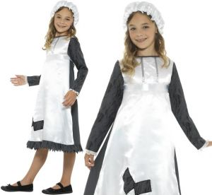 Childrens Fancy Dress Victorian Maid Costume