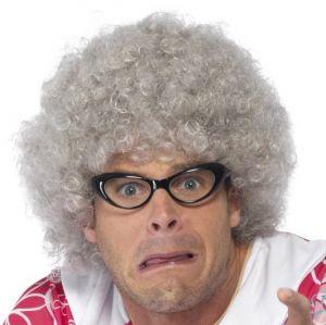 Old Lady Granny Perm Wig - Grey
