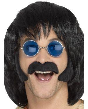 60s 70s Hippy Disguise Set - Black