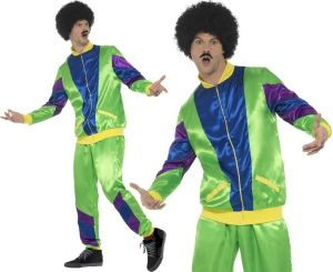 Men's 1980s Retro Scouser Shell Suit Costume