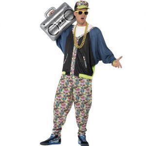 Mens 80s Hip Hop Rapper Costume