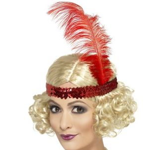 Charleston Flapper Fancy Dress Wig & Headband - Blonde